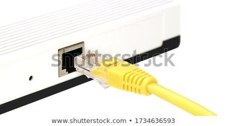 Ethernet cordon forme sans fil symbole coupé Photo stock © 808isgreat