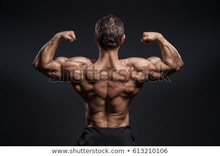 Bodybuilder tonen sterkte zwarte man lichaam Stockfoto © imarin