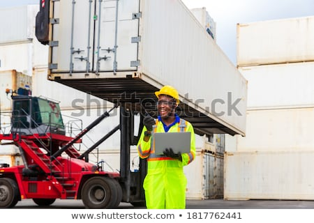 Foreman with radio and computer Stock photo © photography33
