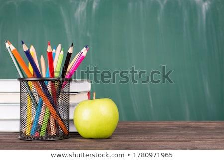 зеленый яблоко учебник Сток-фото © devon