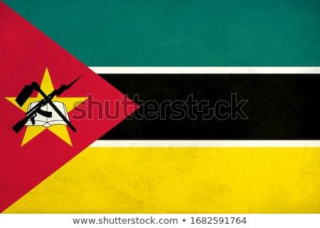 Grunge bayrak Mozambik eski bağbozumu grunge texture Stok fotoğraf © HypnoCreative