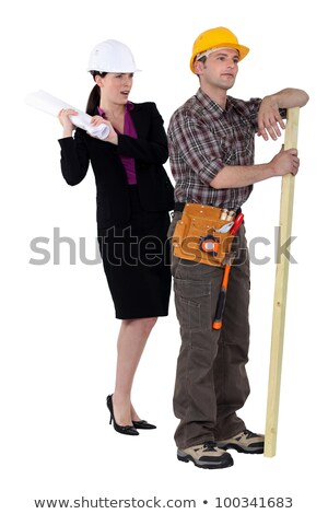 tensions between female architect and male carpenter Stock photo © photography33