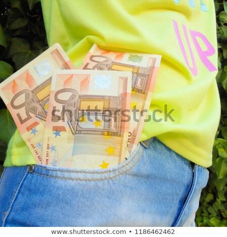 Billetes bolsillo dólares atrás textura trabajo Foto stock © mahout