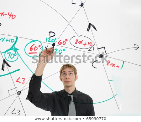 Engineer using a marker to write on a whiteboard Stock photo © photography33