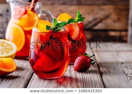 Stock fotó: Tea · eper · friss · eprek · citrus · természet