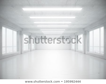 empty interior space, gallery apartment stock photo