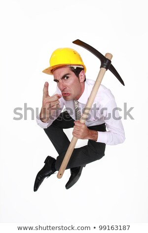 foreman with pickaxe looking authoritative Stock photo © photography33
