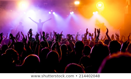 Popular music concert stage and musician silhouette Stock photo © ia_64