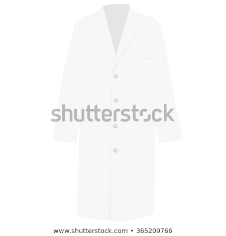 Nurse man with white doctor`s smock. Vector illustration Stock photo © leonido