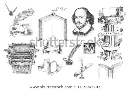 William Shakespeare Engraving Stock photo © claudiodivizia