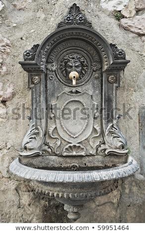 каменные фонтан воды строительство фон пить Сток-фото © wjarek
