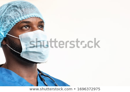 médico · enfermeira · desgaste · estetoscópio · médico · do · sexo · masculino · olho - foto stock © iodrakon