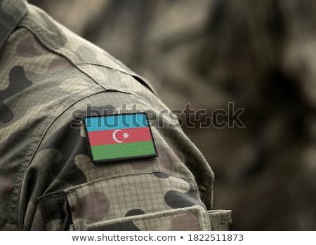 Hadsereg Azerbajdzsán keret háború szolgáltatás sziluett Stock fotó © perysty