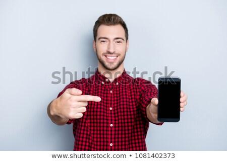 Zakenman jonge business telefoon pak Stockfoto © Saphira