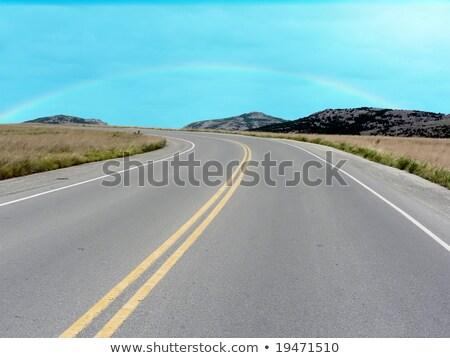 út hegyek Oklahoma hegy mező autópálya Stock fotó © tdoes