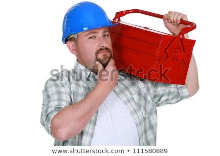 ремесленник прикасаться подбородок бизнеса Сток-фото © photography33