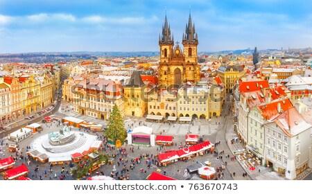 Прага · старый · город · квадратный · туристических · толпа · Чешская · республика - Сток-фото © phbcz