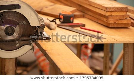 Charpentier vu maison cadre travailleur pouvoir Photo stock © photography33