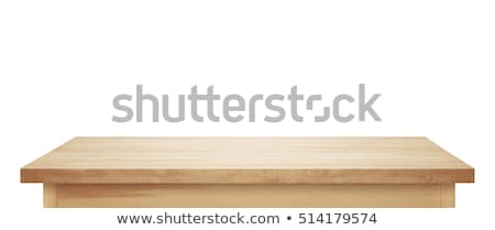 wooden table stock photo © ozaiachin