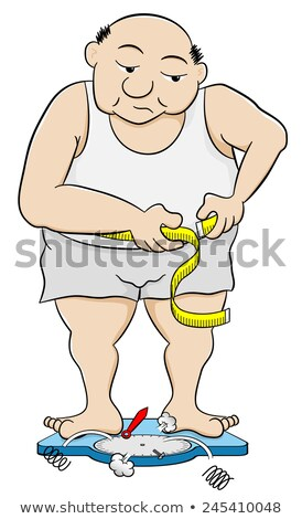 woman measuring his waist with a tape-measure Stock photo © photography33