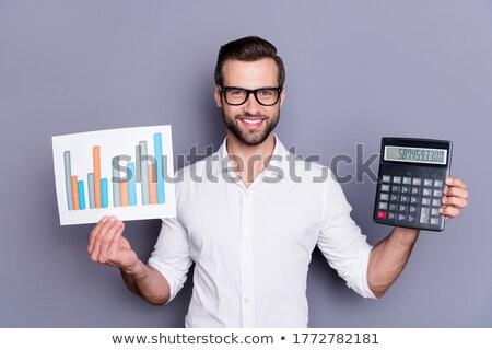 Nice бизнесмен калькулятор деньги стороны Сток-фото © wavebreak_media