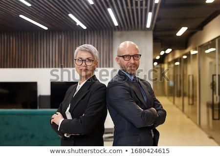 Maturité affaires Homme partenaire permanent Retour Photo stock © photography33