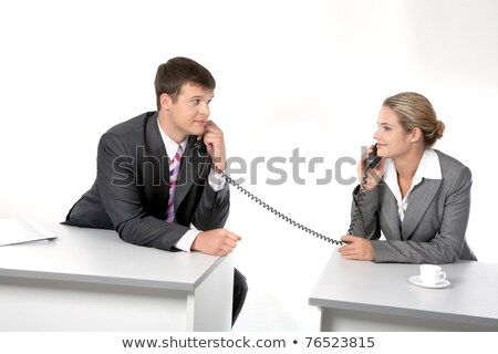 Secretary with two telephones Stock photo © photography33