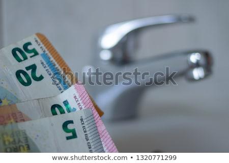 europejski · waluta · na · zewnątrz · kran · działalności - zdjęcia stock © pterwort