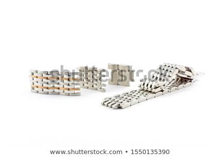Pánt izolált szövet táska széf tárgy Stock fotó © ozaiachin