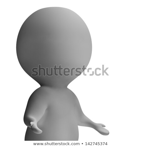 Shrug And 3d Character Shows Ignorance And Incomprehension Stock photo © stuartmiles