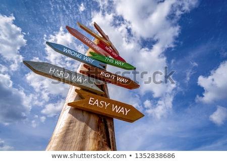 Foto stock: Escolha · confusão · estratégia · caminho · negócio · vida