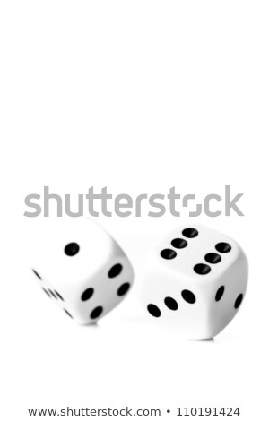 Two black and white dices thrown against a white background Stock photo © wavebreak_media