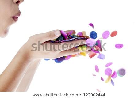 Kadın el beyaz eğlence kafa Stok fotoğraf © wavebreak_media