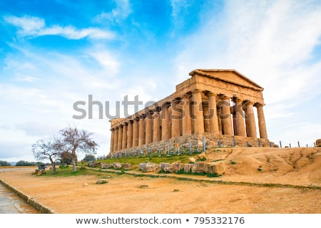 Doric temple of Castor and Pollux in Agrigento, Italy Stock photo © boggy