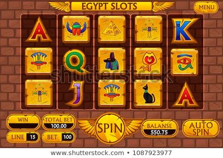 フラグ · エジプト · 塗料 · 色 · 絵画 · 赤 - ストックフォト © ustofre9