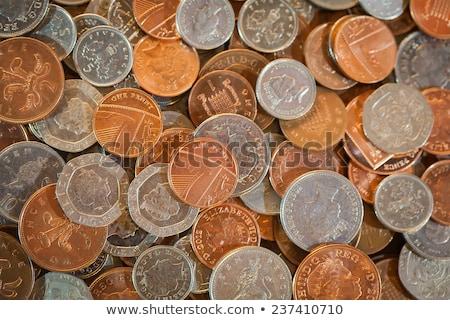 one penny  on a twenty pounds banknote Stock photo © Grazvydas