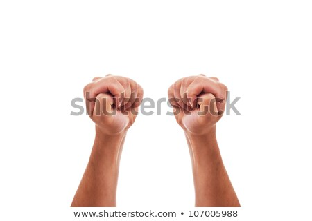 two hands crossing fingers to bring good luck stock photo © pasiphae