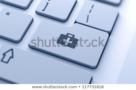 コンピュータ · 応急処置 · 3D · レンダリング · 実例 · ノートパソコン - ストックフォト © 4designersart
