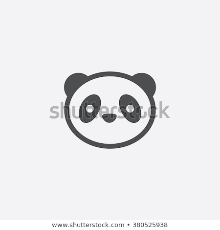 Icon panda Stock photo © zzve
