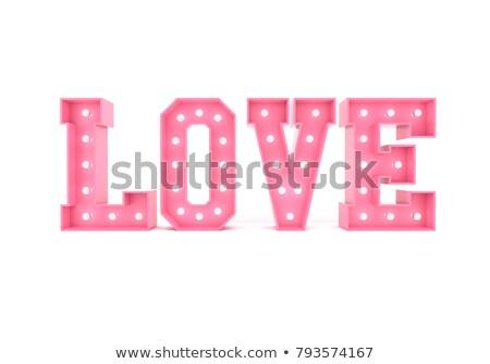 Amor 3D cartas vermelho coração branco Foto stock © dacasdo
