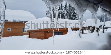 Avusturya dağ spor kış mavi kaya Stok fotoğraf © pumujcl