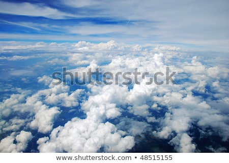 Luchtfoto vreedzaam aarde gedekt wolken boom Stockfoto © rufous