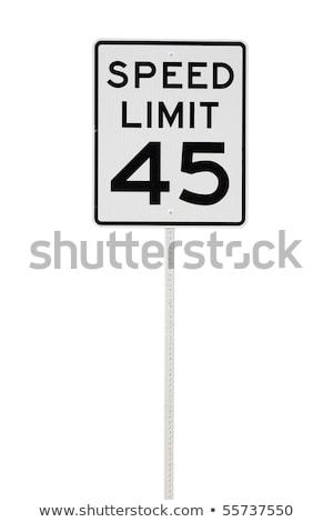 Czterdzieści pięć mph ograniczenie prędkości podpisania Zdjęcia stock © njnightsky