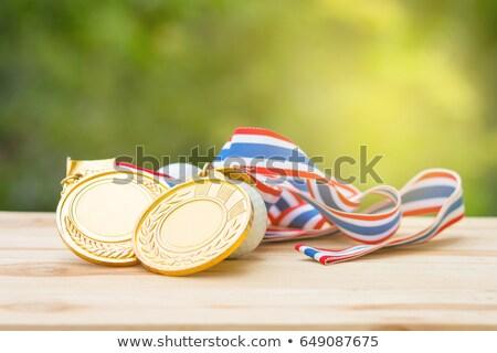 öreg aranyérem izolált fehér sport siker Stock fotó © Taigi