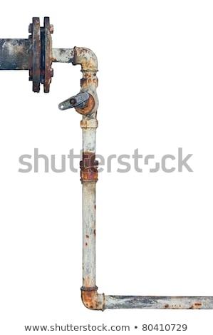 Aged rusty grunge industrial pipe lines Stock photo © lunamarina