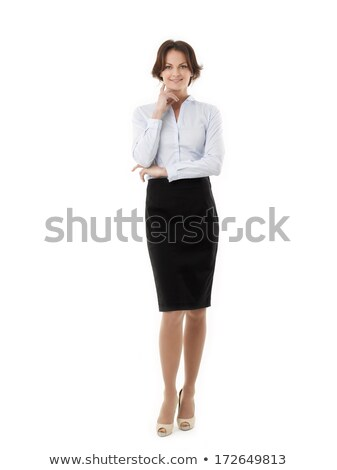 businesswoman full lenght isolated portrait Stock photo © chesterf