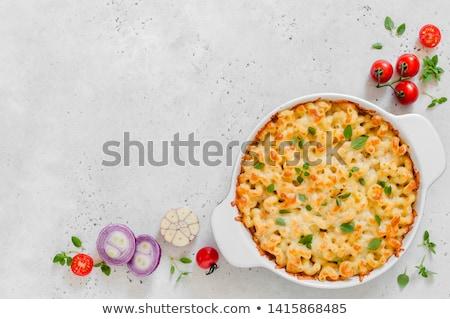 Pasta schaal lunch Spice Stockfoto © MKucova