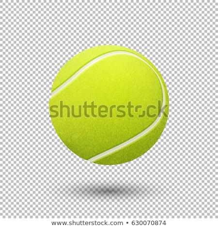 теннисный мяч изолированный белый спорт фон синий Сток-фото © karandaev