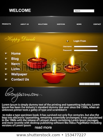 Deepawali diwali diya  bright colorful wave website template vec Stock photo © bharat