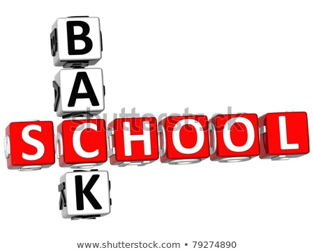 Back to School on Blue Puzzle. Stock photo © tashatuvango